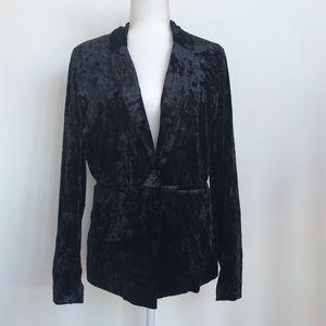 NWT Sanctuary black velvet blazer